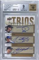 Chad Billingsley, Josh Johnson, Tim Lincecum /25 [BGS 9]