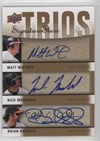 Brian Roberts, Nick Markakis, Matt Wieters #4/15
