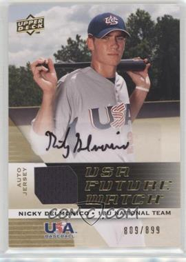 2009 Upper Deck Signature Stars - USA Future Watch Jersey Autographs #UFWA-27 - Nicky Delmonico /899