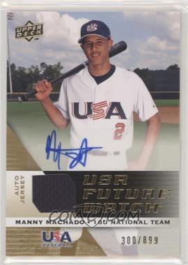 2009 Upper Deck Signature Stars - USA Future Watch Jersey Autographs #UFWA-32 - Manny Machado /899
