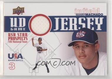 2009 Upper Deck Signature Stars - USA Star Prospects - UD Game Jersey [Memorabilia] #GJU-10 - Manny Machado