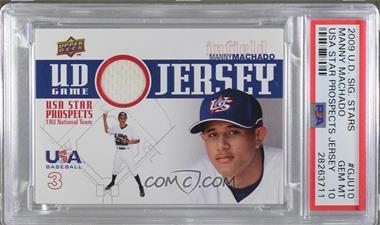 2009 Upper Deck Signature Stars - USA Star Prospects - UD Game Jersey [Memorabilia] #GJU-10 - Manny Machado [PSA10GEMMT]