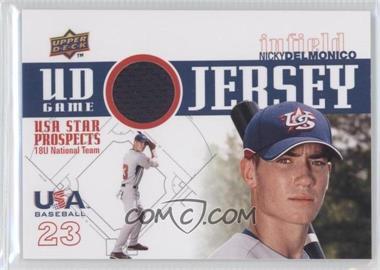 2009 Upper Deck Signature Stars - USA Star Prospects - UD Game Jersey [Memorabilia] #GJU-5 - Nicky Delmonico