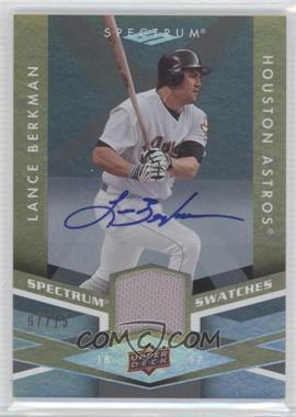 2009 Upper Deck Spectrum - Spectrum Swatches - Autograph [Autographed] #SS-LB - Lance Berkman