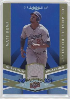 2009 Upper Deck Spectrum - Spectrum Swatches - Blue #SS-MK - Matt Kemp