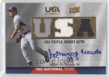 2009 Upper Deck USA Baseball - Box Set Triple Jersey 16U National Team - Autograph [Autographed] #TJA16U-JW - JoMarcos Woods