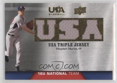 2009 Upper Deck USA Baseball - Box Set Triple Jersey 16U National Team #TJ16U-HH - Hayden Hurst