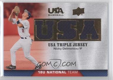 2009 Upper Deck USA Baseball - Box Set Triple Jersey 18U National Team #TJ18U-ND - Nicky Delmonico