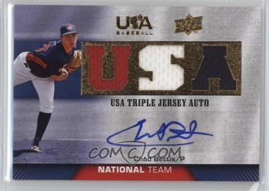 2009 Upper Deck USA Baseball - Box Set Triple Jersey National Team - Autograph [Autographed] #TJANT-CB - Chad Bettis