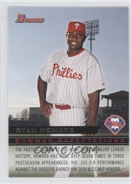 2010 Bowman - Expectations #BE2 - Domonic Brown, Ryan Howard