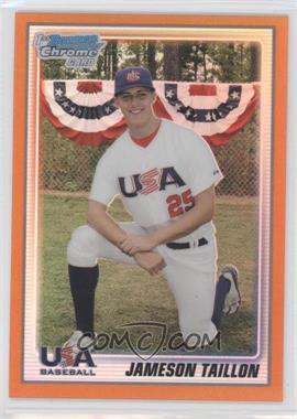2010 Bowman Chrome - 18U USA Team - Orange Refractor #USA18-BC17 - Jameson Taillon /25