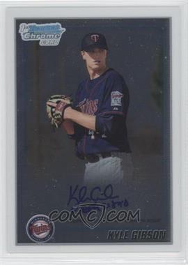 2010 Bowman Chrome - Prospects - Autographs [Autographed] #BCP202 - Kyle Gibson