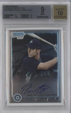 2010 Bowman Chrome - Prospects - Autographs [Autographed] #BCP89 - Dustin Ackley [BGS9]
