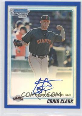 2010 Bowman Chrome - Prospects - Blue Refractor Autographs [Autographed] #BCP111 - Craig Clark /150