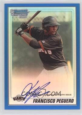 2010 Bowman Chrome - Prospects - Blue Refractor Autographs [Autographed] #BCP189 - Francisco Peguero /150