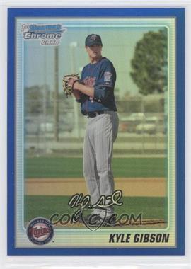2010 Bowman Chrome - Prospects - Blue Refractor #BCP202 - Kyle Gibson /150