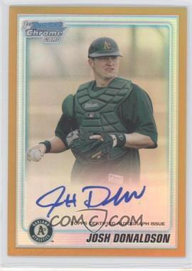 2010 Bowman Chrome - Prospects - Gold Refractor Autographs [Autographed] #BCP113 - John Donaldson /50