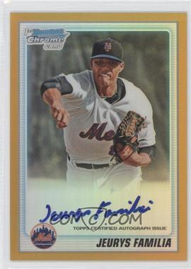 2010 Bowman Chrome - Prospects - Gold Refractor Autographs [Autographed] #BCP197 - Jeurys Familia /50