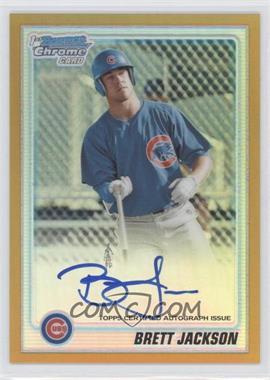 2010 Bowman Chrome - Prospects - Gold Refractor Autographs [Autographed] #BCP93 - Brett Jackson /50