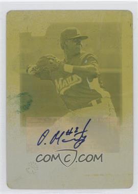 2010 Bowman Chrome - Prospects - Printing Plate Yellow #BCP184 - Ozzie Martinez /1