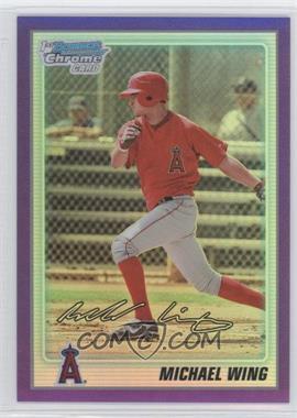 2010 Bowman Chrome - Prospects - Purple Refractor #BCP86 - Michael Wing /999
