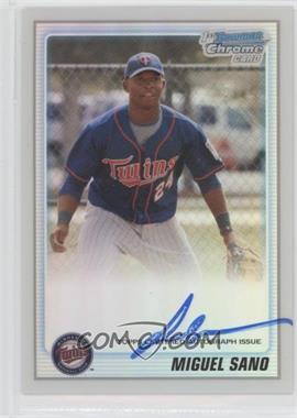 2010 Bowman Chrome - Prospects - Refractor Autographs [Autographed] #BCP205 - Miguel Sano /500