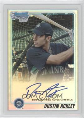2010 Bowman Chrome - Prospects - Refractor Autographs [Autographed] #BCP89 - Dustin Ackley /500