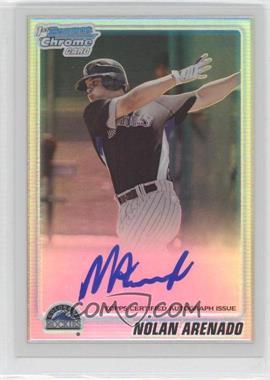 2010 Bowman Chrome - Prospects - Refractor Autographs [Autographed] #BCP91 - Nolan Arenado /500