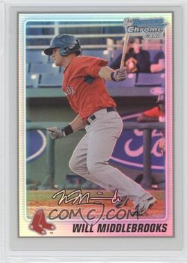 2010 Bowman Chrome - Prospects - Refractor #BCP179 - Will Middlebrooks /500