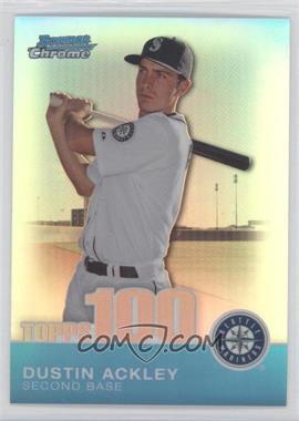 2010 Bowman Chrome - Topps 100 Prospects - Refractor #TPC21 - Dustin Ackley /499