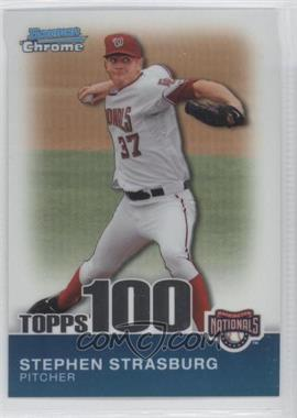 2010 Bowman Chrome - Topps 100 Prospects #TPC1 - Stephen Strasburg /999