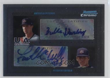 2010 Bowman Chrome - USA Dual Autographs #USADA-1 - Bubba Starling, Lance McCullers /500