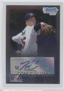 2010 Bowman Chrome - USA Stars - Autographs [Autographed] #USA-HO - Henry Owens