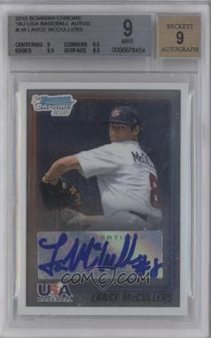 2010 Bowman Chrome - USA Stars - Autographs [Autographed] #USA-LM - Lance McCullers [BGS 9]
