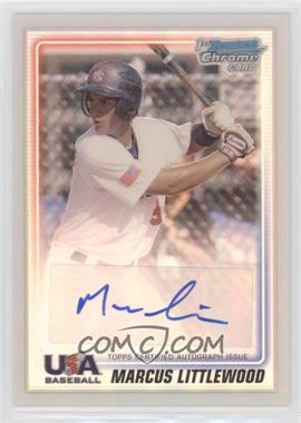 2010 Bowman Chrome - USA Stars - Refractors Autographs [Autographed] #USA-ML - Marcus Littlewood /199
