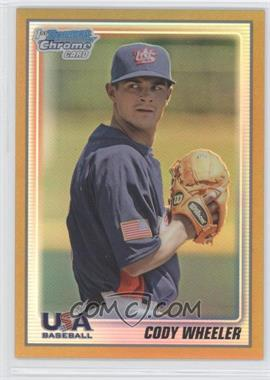 2010 Bowman Chrome - USA Team - Gold Refractor #USA-BC18 - Cody Wheeler /50