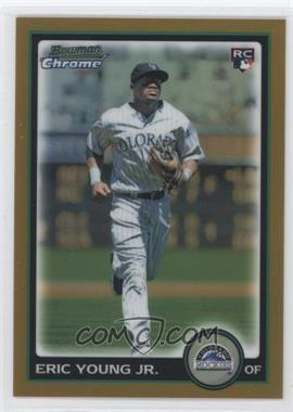 2010 Bowman Draft Picks & Prospects - Chrome - Gold Refractor #BDP34 - Eric Young /50