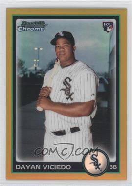 2010 Bowman Draft Picks & Prospects - Chrome - Gold Refractor #BDP75 - Dayan Viciedo /50