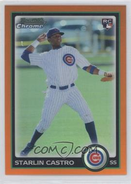 2010 Bowman Draft Picks & Prospects - Chrome - Orange Refractor #BDP4 - Starlin Castro /25