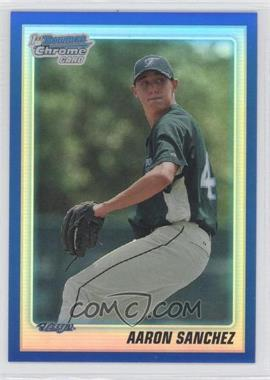 2010 Bowman Draft Picks & Prospects - Chrome Draft Picks - Blue Refractor #BDPP74 - Aaron Sanchez /199