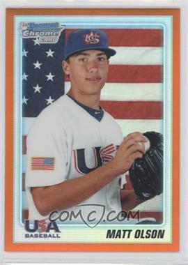 2010 Bowman Draft Picks & Prospects - Chrome Draft Picks - Orange Refractor #BDPP104 - Matt Olson /25
