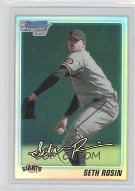 2010 Bowman Draft Picks & Prospects - Chrome Draft Picks - Refractor #BDPP55 - Seth Rosin