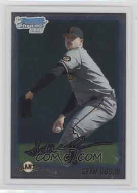 2010 Bowman Draft Picks & Prospects - Chrome Draft Picks #BDPP55 - Seth Rosin