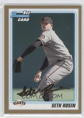 2010 Bowman Draft Picks & Prospects - Draft Picks - Gold #BDPP55 - Seth Rosin