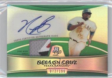 2010 Bowman Platinum - Autographed Relic Refractor - Green Patch #PAR-NC - Nelson Cruz /199