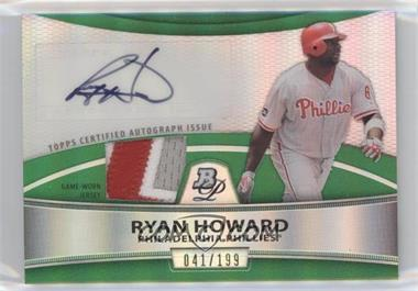 2010 Bowman Platinum - Autographed Relic Refractor - Green Patch #PAR-RH - Ryan Howard /199