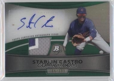 2010 Bowman Platinum - Autographed Relic Refractor - Green Patch #PAR-SC - Starlin Castro /199