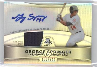 2010 Bowman Platinum - Autographed Relic Refractor #PAR-GS - George Springer /740