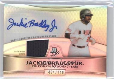 2010 Bowman Platinum - Autographed Relic Refractor #PAR-JB - Jackie Bradley Jr. /740