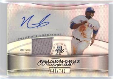 2010 Bowman Platinum - Autographed Relic Refractor #PAR-NC - Nelson Cruz /740